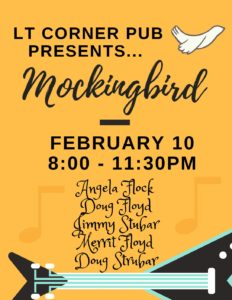 Live Music - Mockingbird Band @ LT Corner Pub | Lakeway | Texas | United States