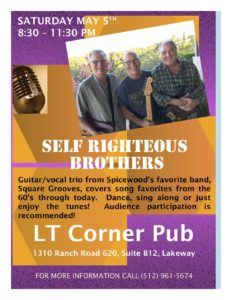 Live Music - The Self Righteous Brothers @ LT Corner Pub | Lakeway | Texas | United States