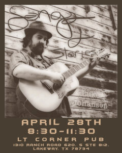Live Music & Stories - Luke Johnson @ LT Corner Pub | Lakeway | Texas | United States