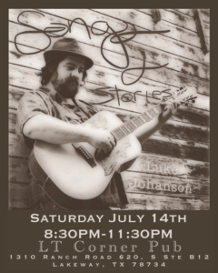 Live Celtic/Texas Music & Stories - Luke Johanson @ LT Corner Pub | Lakeway | Texas | United States